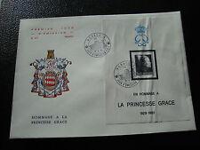 MONACO - enveloppe 1er jour 19/4/1983 (yt bloc n° 24)  (cy51) (pliure) (Z)