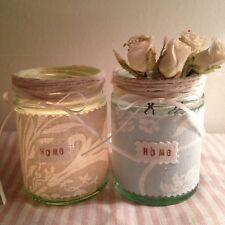 Laura Ashley Josette Fabric Duck Egg Blue Dove Grey Tealight Vase Home Wedding