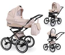 Kinderwagen 3in1 Moovio Classico Retro Kombi Luxus Babywanne Babyschale Kombi