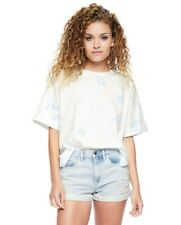 JUICY COUTURE Tie Die Tee T-Shirt Top White/ Blue MEDIUM ( M ) NEW FREE SHIPPING