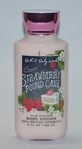 BATH & BODY WORKS STRAWBERRY POUND CAKE LOTION CREAM SIGNATURE SHEA BUTTER 8OZ