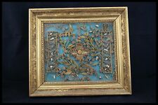 † MARY MAGDALENE MULTI RELIQUARY 20 RELICs QUILLINGS GILTED FRAME 18TH FRANCE