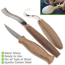 Wood Spoon Carving Set Knives Craft Wood Carving Hand Tools Kit Kuksa Bowl Knife