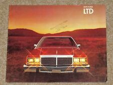 1978-79 FORD LTD Sales Brochure (Canadian) Custom, Landau, Country Squire, Sedan