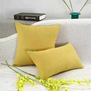 Pillow Case Cushion Cover Solid Plain Dyed Chair Car Sofa Home Bedroom Decor