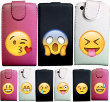 IDB CUSTODIA COVER CASE ECO PELLE EMOTICON WHA PER SAMSUNG GALAXY ACE 2 I8160