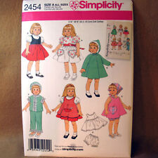 "Simplicity Archives 2454 16"" 18"" Doll Clothes Patterns"