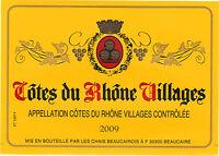 Etiquette de vin - Côtes du Rhône Villages - 2009