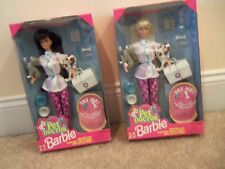 NEW RARE PET DOCTOR BARBIE DOLL~Blond or Brunette~Dog & CAT Toy~EXCELLENT SET