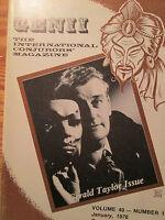 1976 Genii Magazine Magic Gerald Taylor Issue; Human Pin Cushion Trick