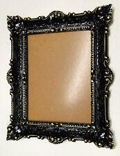 Cadre d'image baroque NOIR-OR 56x46 Photo armature de Miroir rectangulaire 30x40