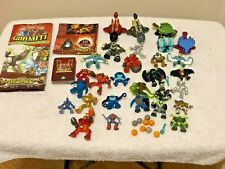 Gormiti Figures & Cards Bundle Perfect Condition With Metallic Shiny Gold Silver