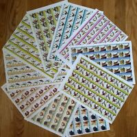 Worldwide Topical Stamp Collection MNH Birds & Dogs - 500 Stamps (10 Sheets)