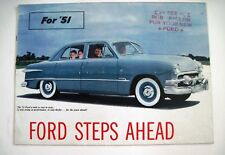 "1951 ""Ford"" Car Brochure w/ Colorful Pictures of All Models  *"