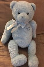 """Baby Gund My First Teddy Blue Bear Large Plush Bow 15"""" Excellent Clean"""