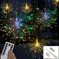Hanging Firework LED Fairy String Light 8 Modes Remote Christmas Xmas Decors USA