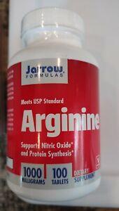 Jarrow Formulas Arginine 1000mg 100 Tab Nitric Oxide Protein Synthesis 8/21  (29