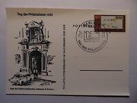 DDR Ganzsache Tag der Philatelisten 1981 Michel-Nr. 2646 mit Sonderstempel
