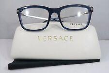 Versace MOD. 3210 5111 Blue Clear Gunmetal New Authentic Eyeglasses 55mm w/Case