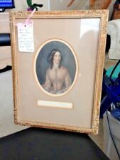 ANTIQUE PICTURE of the PRINCESS of Saxe Weimer in lovely gold embossed Frame
