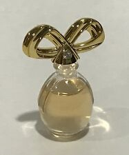 Vintage White Diamond Elizabeth Taylor .12 Fl Oz Parfum Perfume Mini Bottle Gold