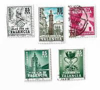 Spain Plan Sur de Valencia stamps x 5