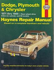 Challenger Dodge Dart CARICATORE PLYMOUTH BARRACUDA CHRYSLER LE BARON Riparazione Manuale
