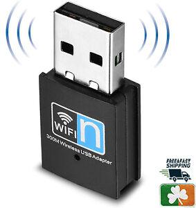 Wifi Dongle,300Mbps Mini Wireles Network USB Wi-Fi Adapter for PC/Desktop/Laptop