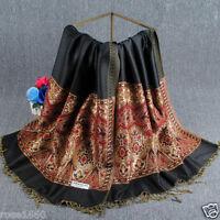 New Fashion Women's Vintage 100% Cashmere Pashmina Scarf Wrap Shawl Stole