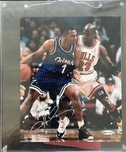 Penny Hardaway W / Michael Jordan 8 x 10  Penny Auto - Upper Deck Auth. Framed