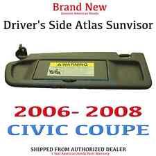 06-08 CIVIC 2DR Genuine OEM Driver Side NH598L Sunvisor (83280-SNA-A01ZA