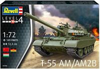 Model Vehicle Revell T-55AM TANK  1:72 SCALE
