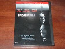 Insomnia - R1 DVD Al Pacino Robin Williams Christopher Nolan Widescreen Edition