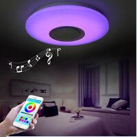 Led Ceiling Lamps Lamparas Led De Techo Modernas Altavoz Bluetooth Sala Modern