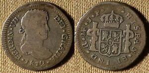 Peru : 1812JP 1/2 Real  Large 2   F-VF  #113.1  IR3099