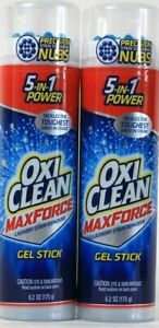 2 Count OxiClean 6.2 Oz Max Force 5 In 1 Power Laundry Stain Remover Gel Stick
