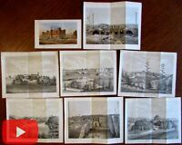 Central Park New York City 1862 lot of 8 lithographed prints nice early views