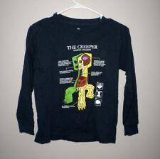 MINECRAFT youth small tee Creeper video game logo T shirt Creepus Explodus cubes
