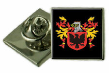 Kilpatrick Scotland Family Crest Coat of Arms Lapel Pin Badge Engraved Gift Case