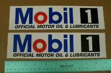 """2 Mobil 1 Official Motor Oil & Lub fender contingency racing Decal Stickers 10"""""""