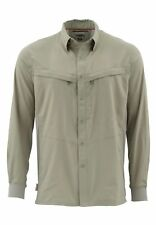 Simms Intruder Bicomp Long Sleeve Shirt Dark Khaki - Size Large -CLOSEOUT