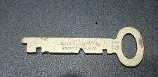 Antique Vintage SARGENT & GREENLEAF Flat Steel Key # 12 Rochester NY Lock Key