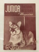 Vintage October 1953 Junior Natural History Magazine 15 Cents American Museum