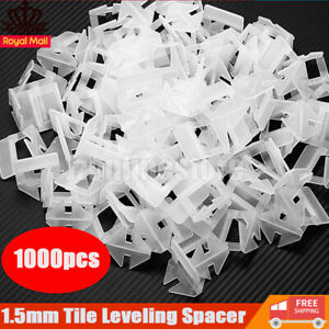 1000Pcs 1.5mm Tile Leveling System Levelling Clips For Wall Floor Tile Space