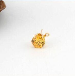10pcs/lot Crystal Zircon Stud Earrings 8mm Brincos Drop Ear Studs Women Fashion