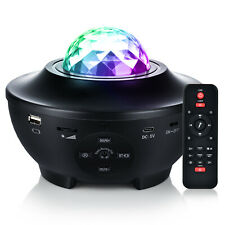 LED Galaxy 3d Star Sky Projector Night Light Lamp Starry Bluetooth Speaker Gift