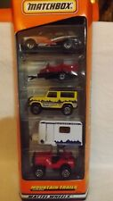 1998 Matchbox 5 Pack Gift Set Mountain Trails Land Rover 90-Motorcycle Trailer-
