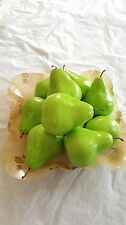 10 green artificial pears plastic fake fruit home party wedding decoration