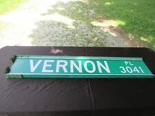 "Authentic Vintage Street Sign Vernon Place 3041 52"" X 9 3/4"""
