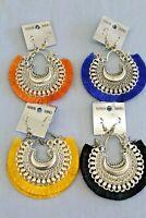 Vintage Handmade Tibetan silver Tribal hippie boho curtain Earring Earrings